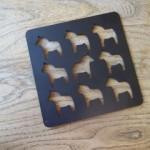 Metal Dala Horse Cutout Trivet
