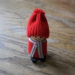 Tomte Boy with Striped Scarf