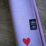 Striped Heart Table Runner