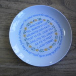 Swedish Table Prayer Plate