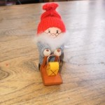 Tomte with Sled & Lantern