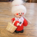 Grandma Tomte with Knitting Basket