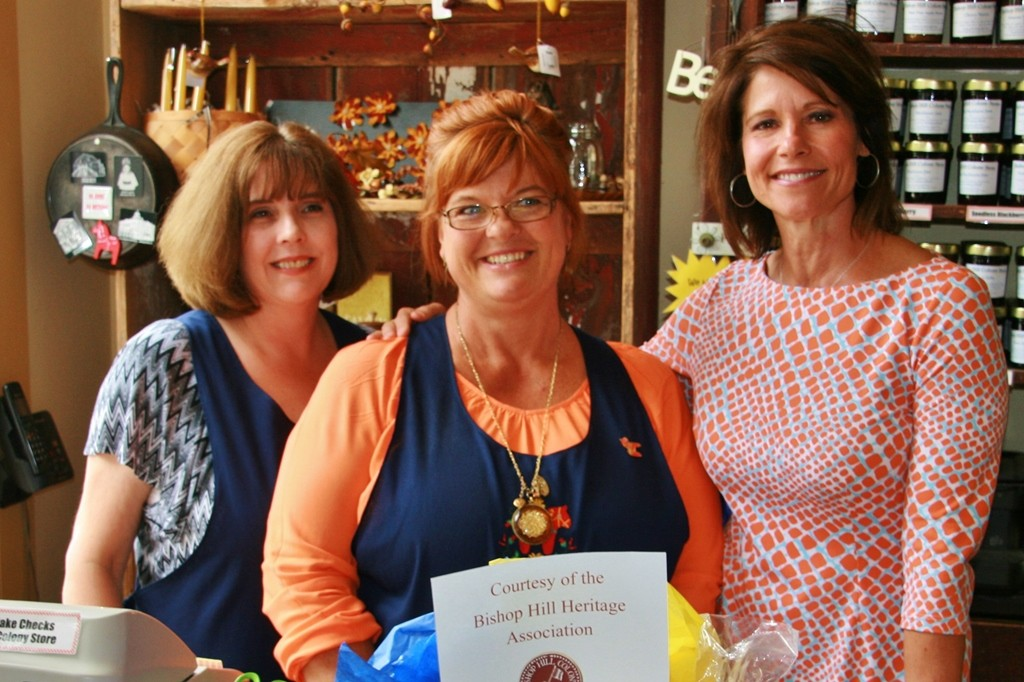 In the Colony Store, with Ronda McQueen and Store Manager Glenda Wallace