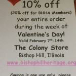 Valentine's Week Colony Store coupon