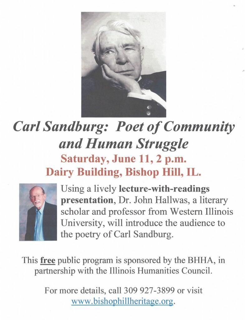 Carl Sandburg poster 2016